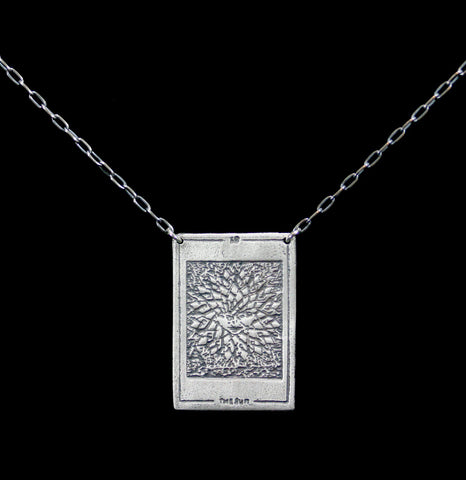"Sterling Silver Tarot Card ""The Sun"" Pendant Necklace-Necklaces-Acid Queen Jewelry-PaxtonGate"
