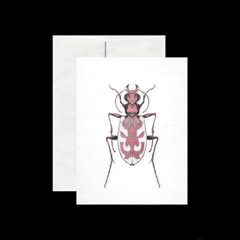 Blowout Tiger Beetle Card-Cards-Open Sea Design Co.-PaxtonGate