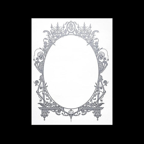 Silver Victorian Frame Skeleton Card-Cards-Open Sea Design Co.-PaxtonGate