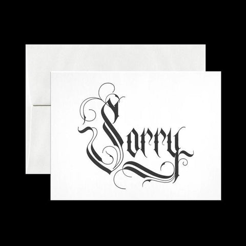Sorry Letterpress Card-Cards-Open Sea Design Co.-PaxtonGate
