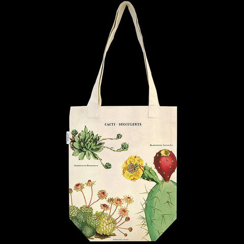 Cacti & Succulents Canvas Tote Bag-Accessory-Cavallini & Co.-PaxtonGate