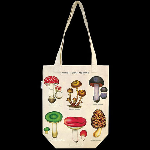 Mushrooms Canvas Tote Bag-Accessory-Cavallini & Co.-PaxtonGate
