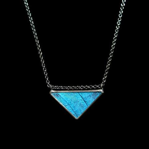 Blue Morpho Classic Triangle Necklace-Necklaces-Hart Variations-PaxtonGate