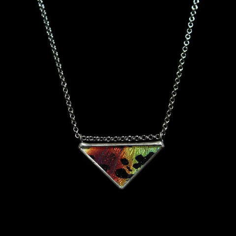 Sunset Moth Classic Triangle Necklace-Necklaces-Hart Variations-PaxtonGate