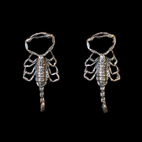 Scorpion Earrings Sterling Silver-Earrings-Hart-PaxtonGate