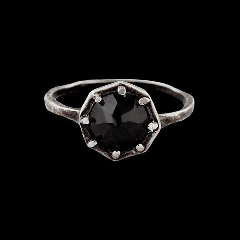 Black Spinel Octagon Ring-Rings-Lauren Wolf-PaxtonGate