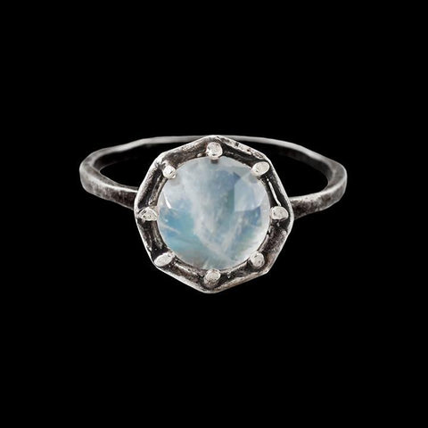 Rainbow Moonstone Octagon Ring-Rings-Lauren Wolf-PaxtonGate