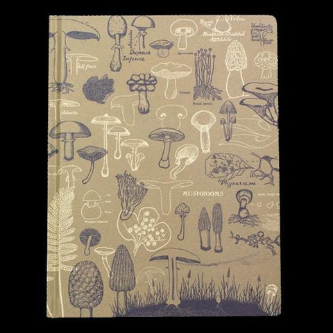 Mushrooms Hardcover Notebook-Notebooks-Cognitive Surplus-PaxtonGate