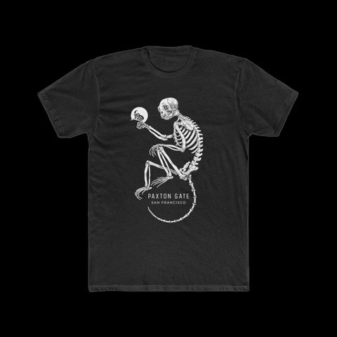 Men's Skeletal Monkey Tee by Zoe Keller-T-Shirt-Printify-PaxtonGate