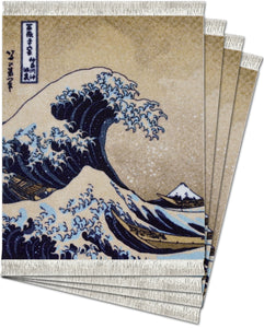 The Great Wave off Kanagawa by Katsushika Hokusai Coaster Rug Set