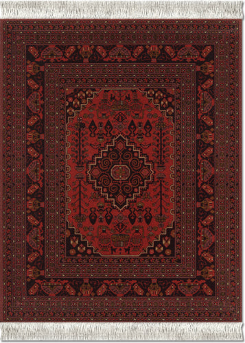 Antique Red Afghan Mouse Rug