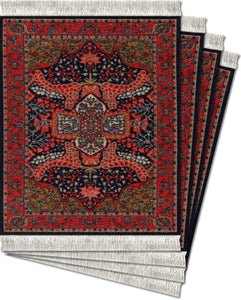 Art-Deco Sarouk Coaster Rug Set