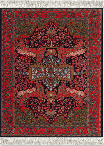 Art-Deco Sarouk Mouse Rug
