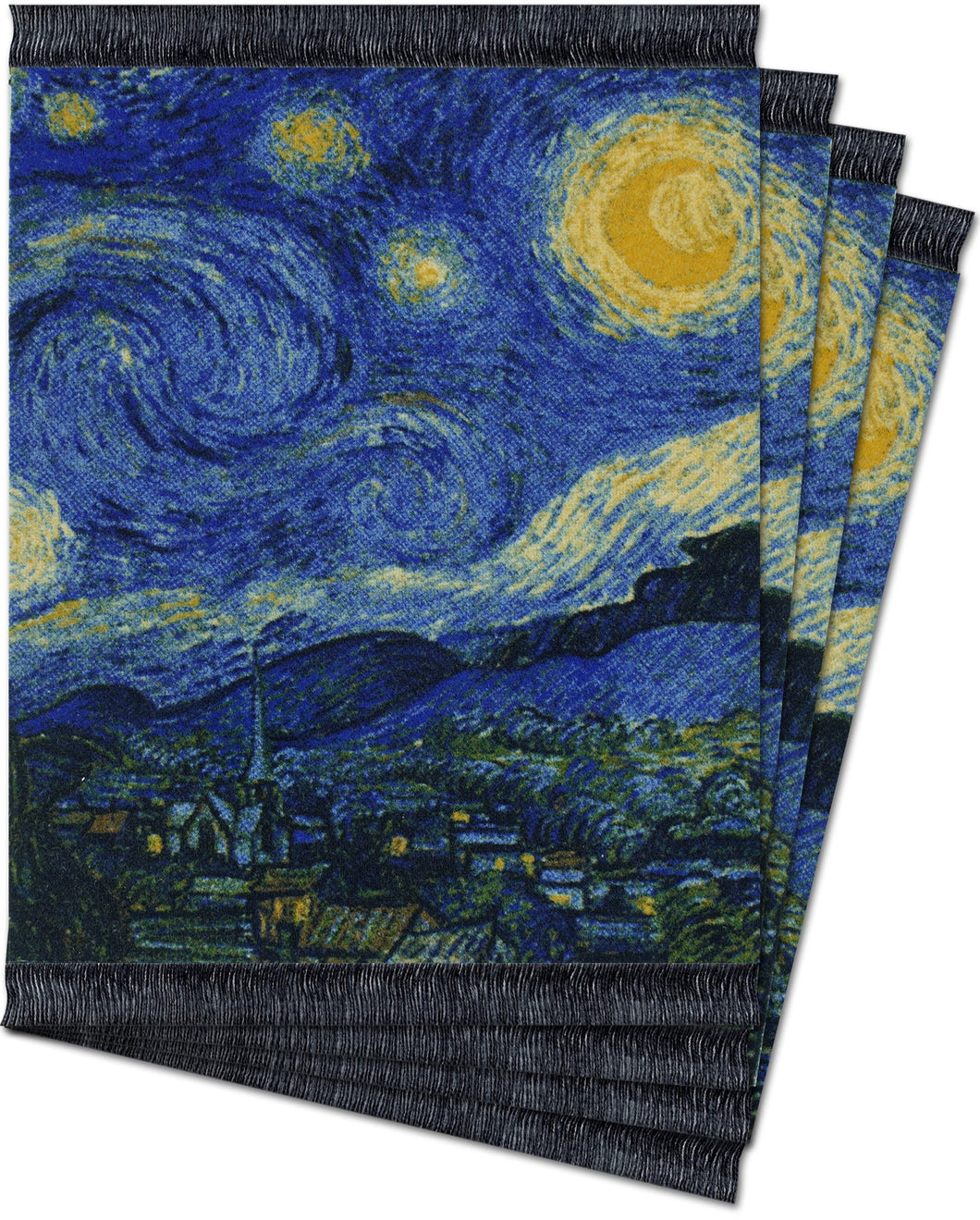 The Starry Night by Vincent Van Gogh Coaster Rug Set