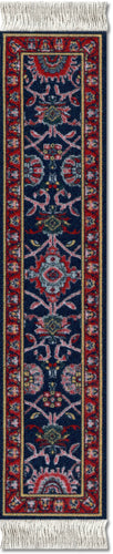 Deep Blue Bergamo Book Rug