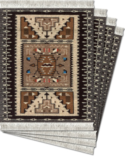 Bessie Barber Navajo Weaving Coaster Rug Set