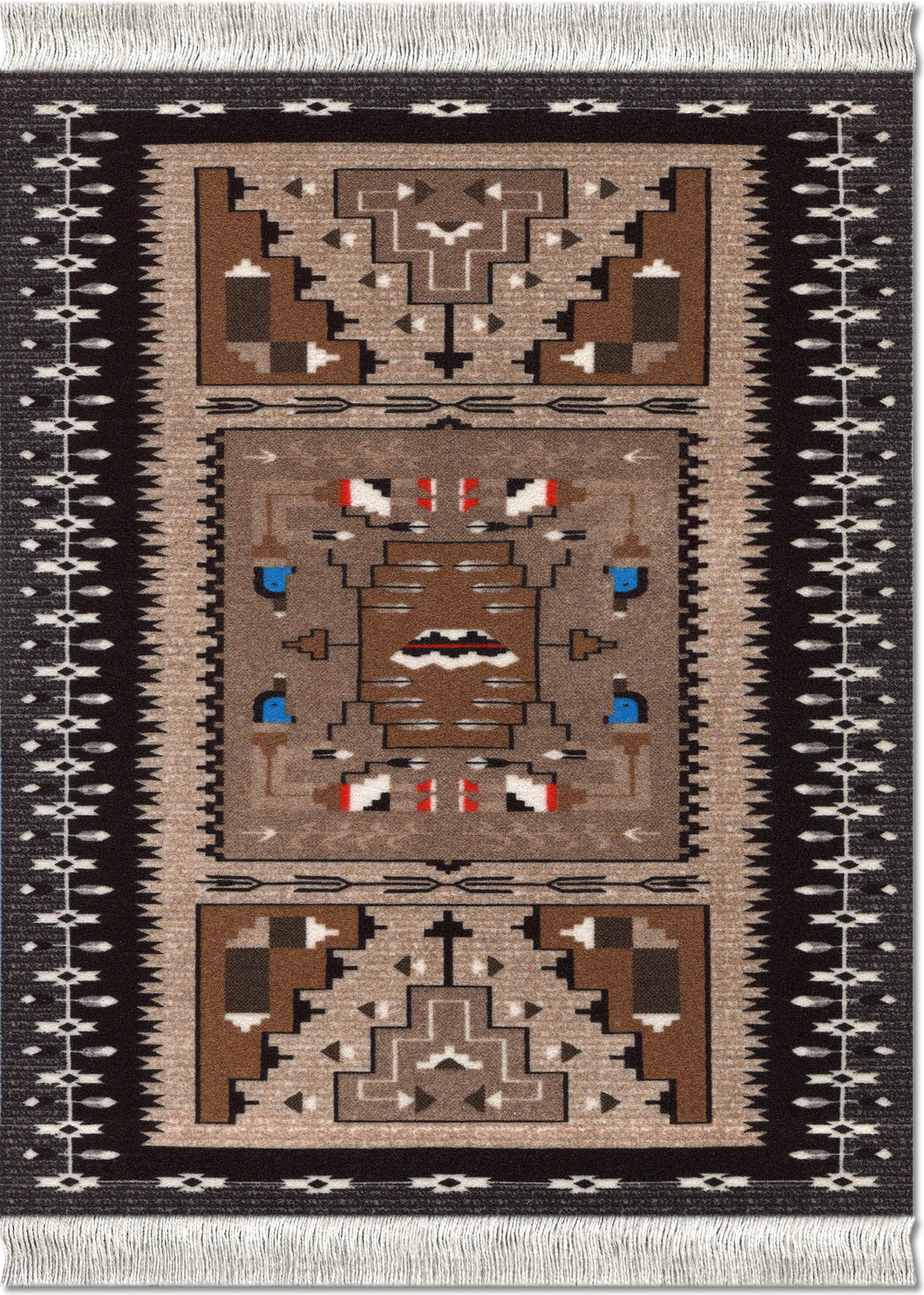 Bessie Barber Navajo Weaving Mouse Rug