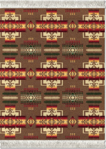 Chief Joseph Khaki Repeat Mouse Rug