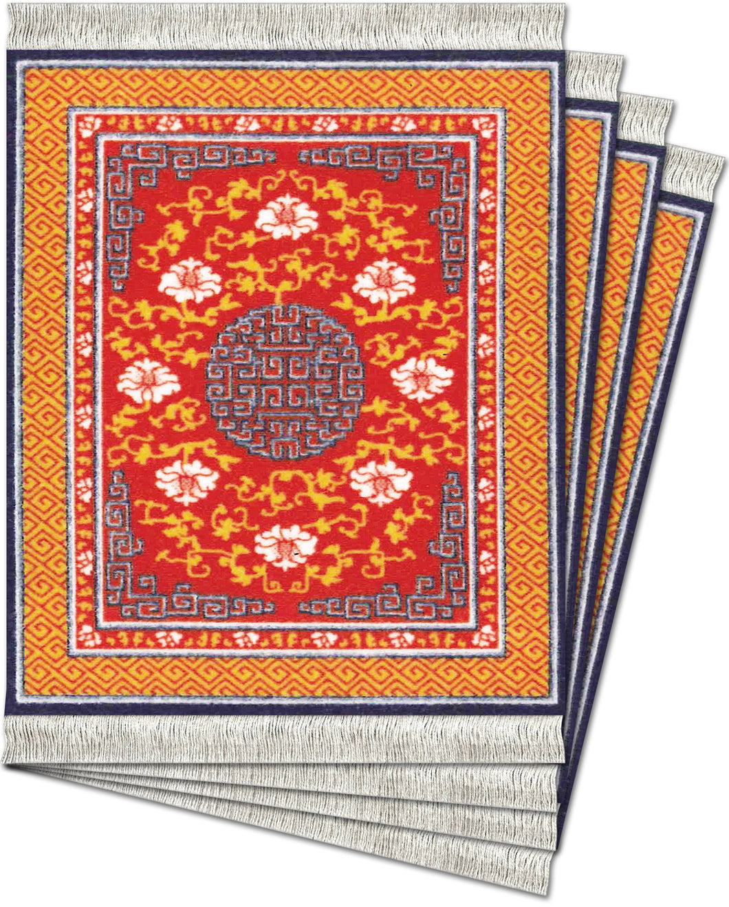 Ningxia Medallion Coaster Rug Set