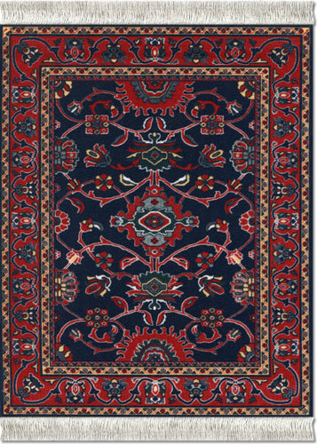 Deep Blue Bergamo Mouse Rug