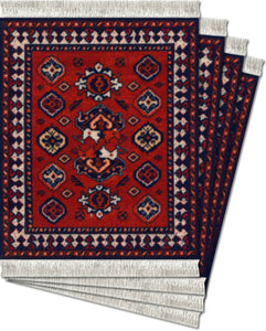 Early Turkmen Coaster Rug Set