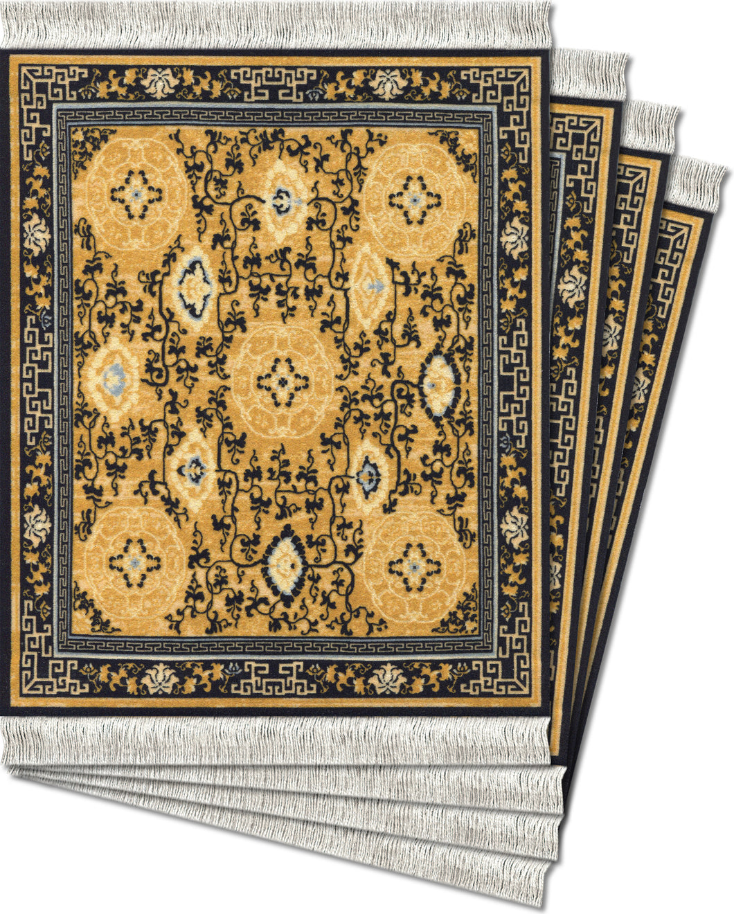 Five Medallions Coaster Rug Set
