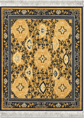 Five Medallions Mouse Rug
