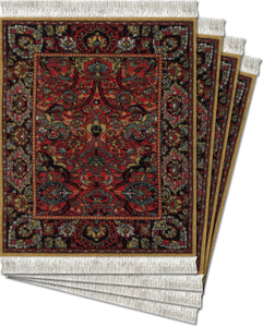Floral Arabesque Coaster Rug Set