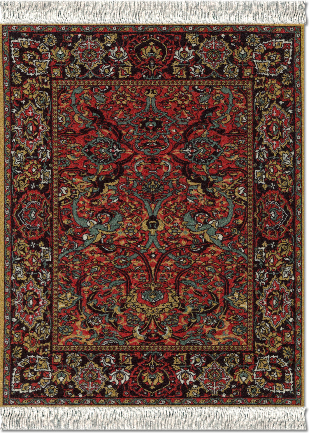 Floral Arabesque Mouse Rug