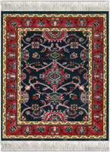 Load image into Gallery viewer, Deep Blue Bergamo Coaster Rug