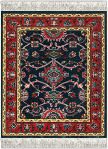 Deep Blue Bergamo Coaster Rug