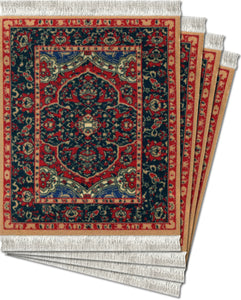 Kashan Silk Coaster Rug Set