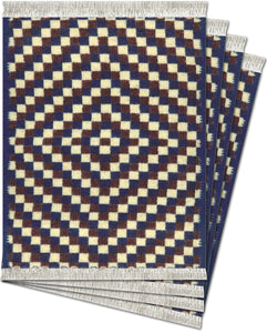 Checkerboard Serape Coaster Rug Set