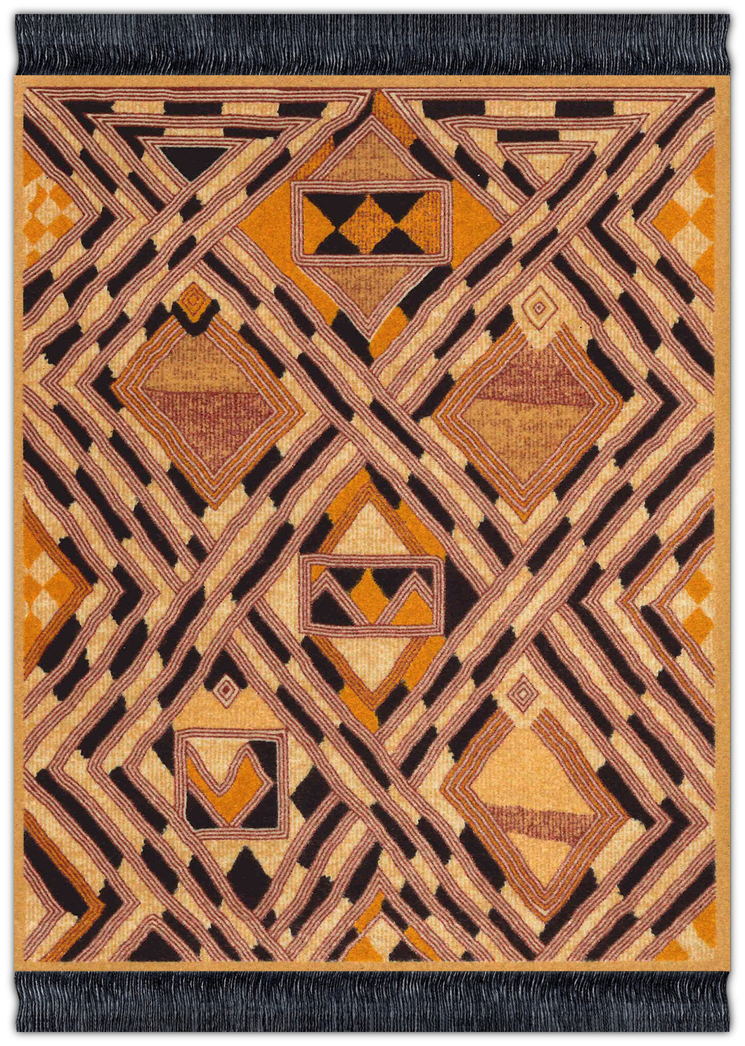 Kuba Cloth Mouse Rug