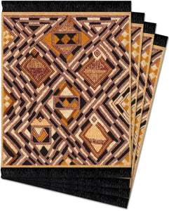 Kuba Cloth Coaster Rug Set