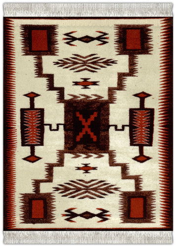 Ivory Navajo Storm Pattern Mouse Rug