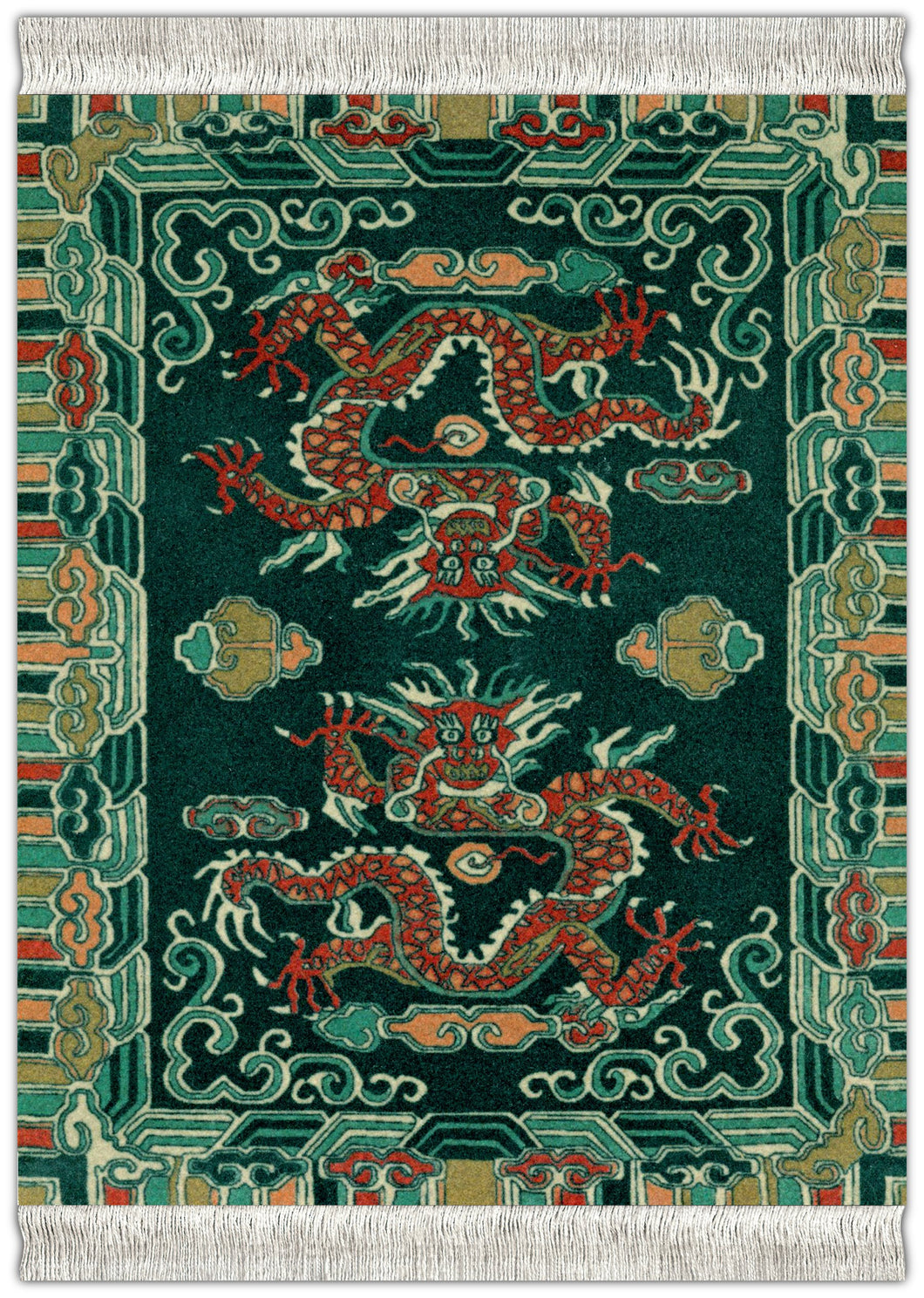 Tibetan Dragon Mouse Rug