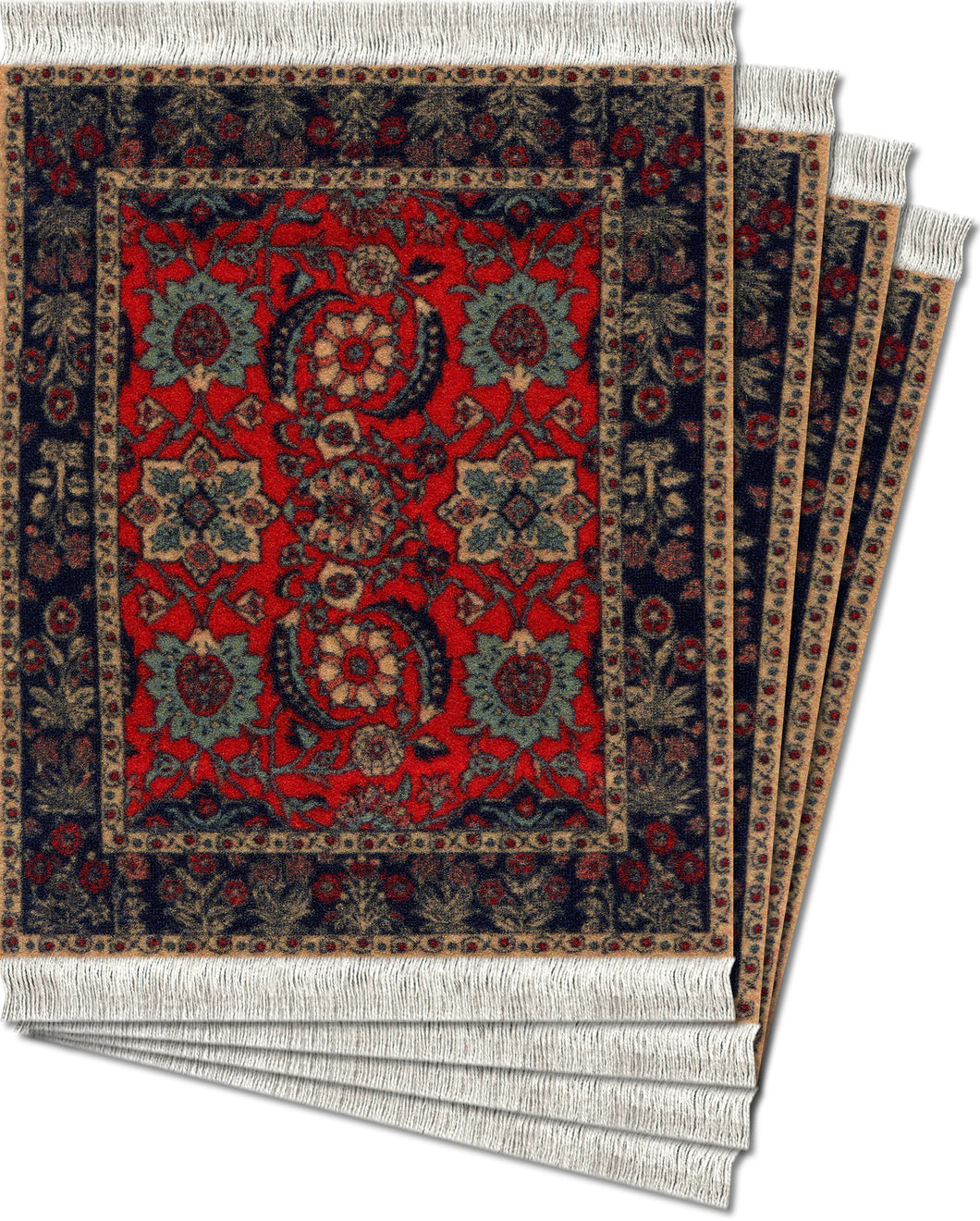 Pashmina Flowers Coaster Rug Set
