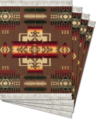 Chief Joseph Khaki Repeat Coaster Rug Set