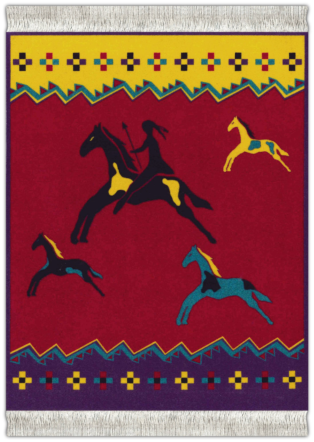Celebrate the Horse Red Mouse Rug