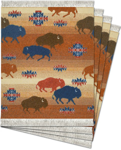 Prairie Rush Hour Coaster Rug Set