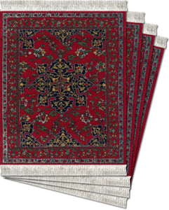 Star Ushak Coaster Rug Set