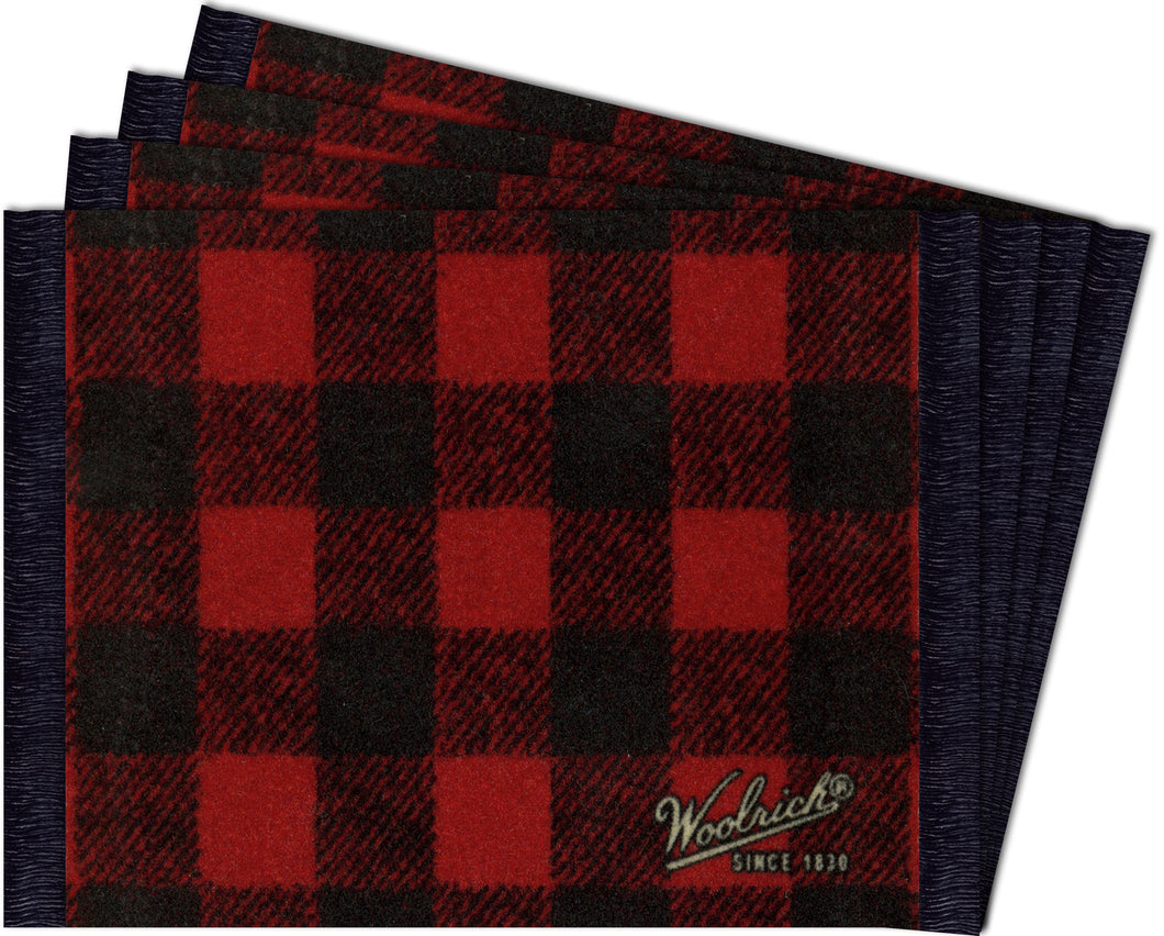 Buffalo Plaid Coaster Rug Set