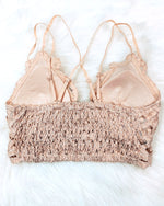 Nude Lace Strappy Bralette