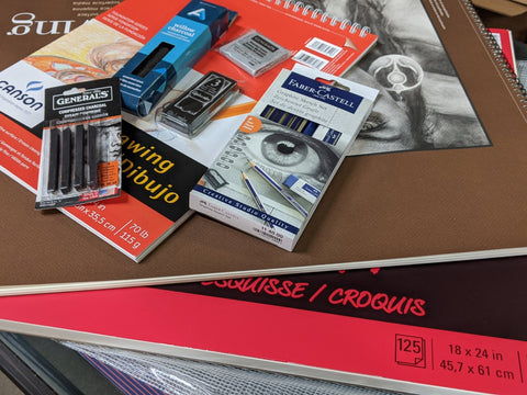 MSU and LCC art supply kits