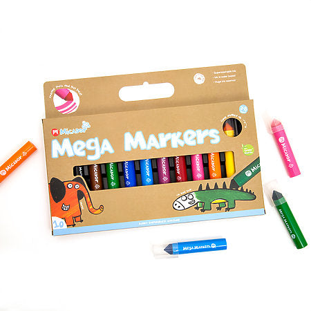 Micador Mega Markers 10-Color Pack - Odd Nodd Art Supply