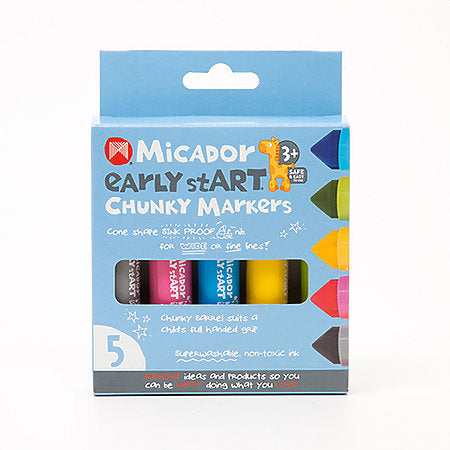 Chunky Markers 5-Color Set - Odd Nodd Art Supply