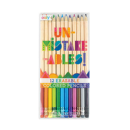 12-Pencil Erasable Colored Pencil Set