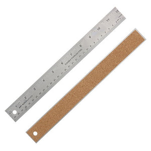 Flexible Stainless Corkback Steel Rulers - Odd Nodd Art Supply