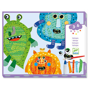 Happy Monsters Tear and Stick Collage Kit - Odd Nodd Art Supply